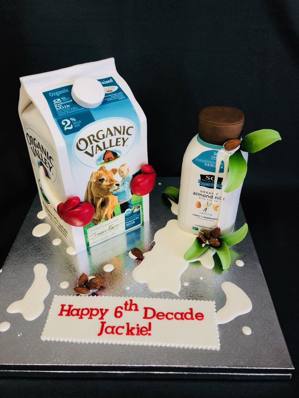 3D Milk 6th Decade Birthday Cake NJ