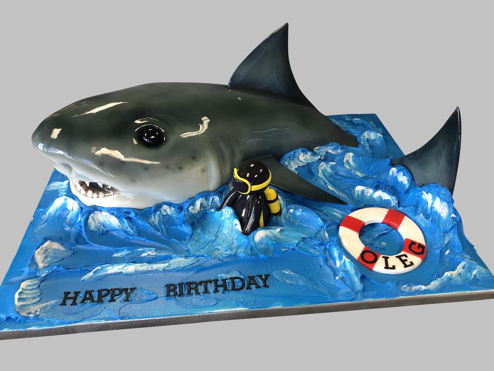 3D Shark Birthday Cake New Jersey