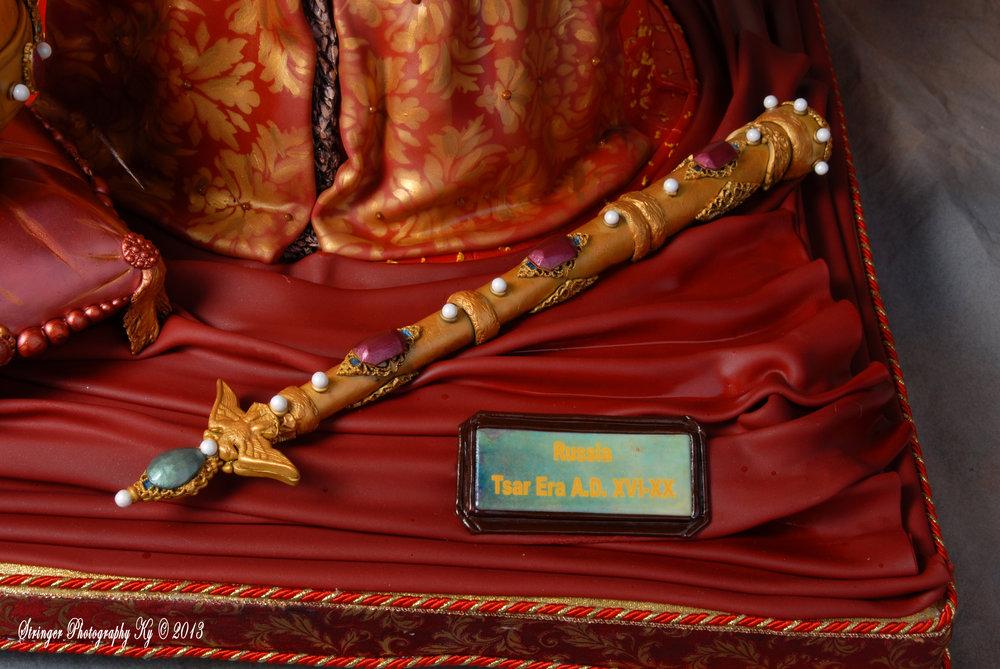 Skazka 3D Tzar's Gown and Regalia Cake NJ