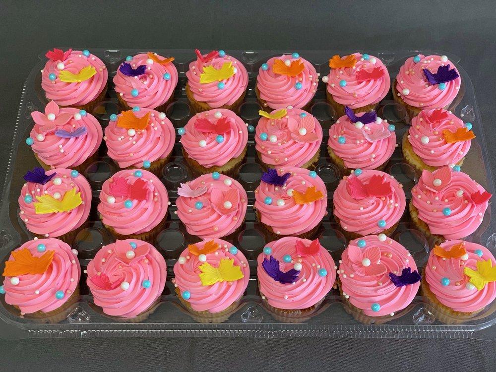 Strawberry Mousse Birthday Cupcakes NJ