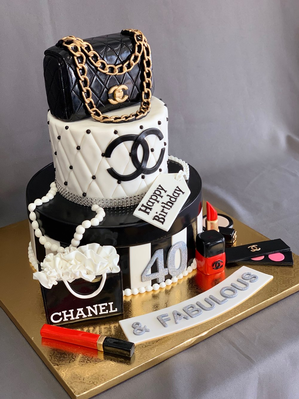 Chanel Themed Birthday Cake NJ