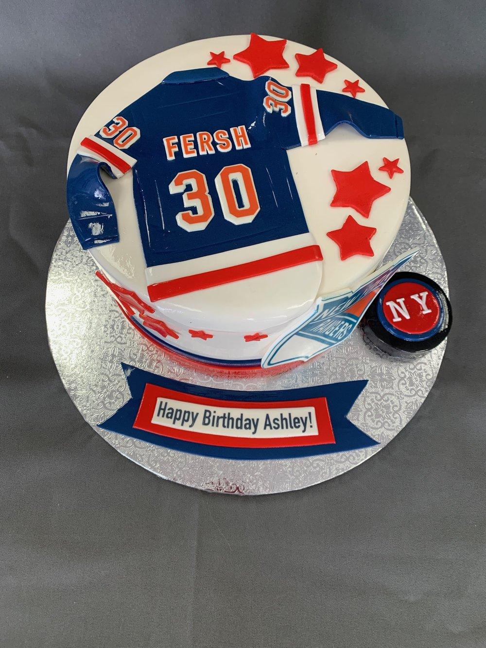 Ny rangers birthday cake NJ