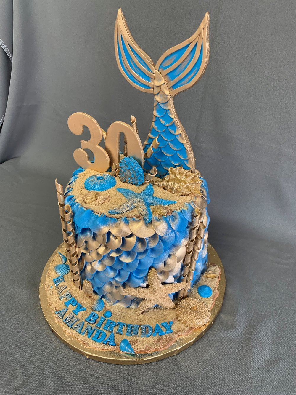 Meraid themed birthday cake NJ