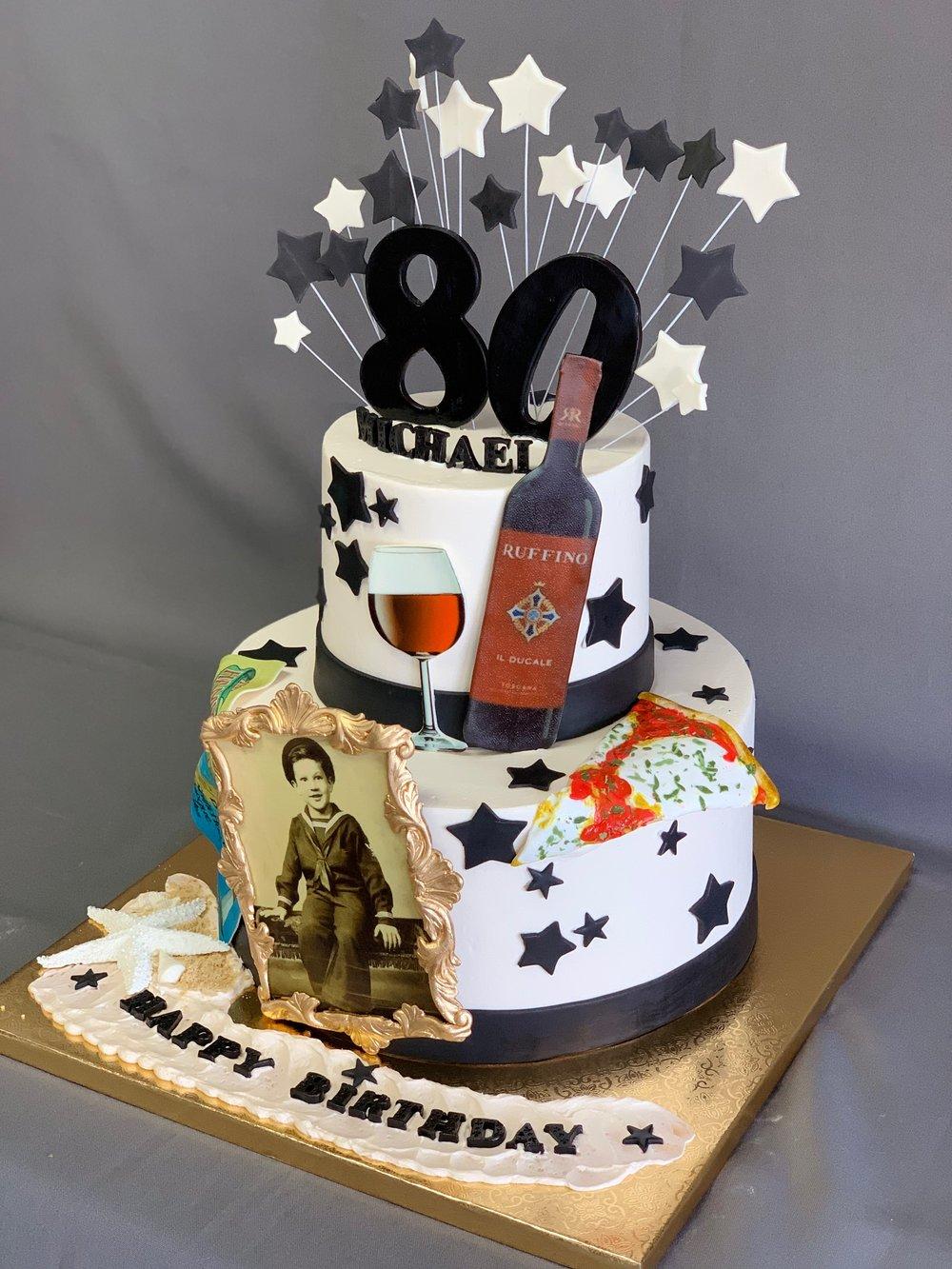 80th Birthday cake New Jersey