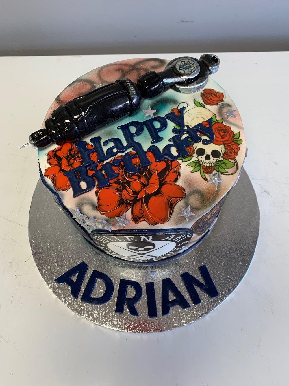 Best Tatoo artist's Birthday cake NJ