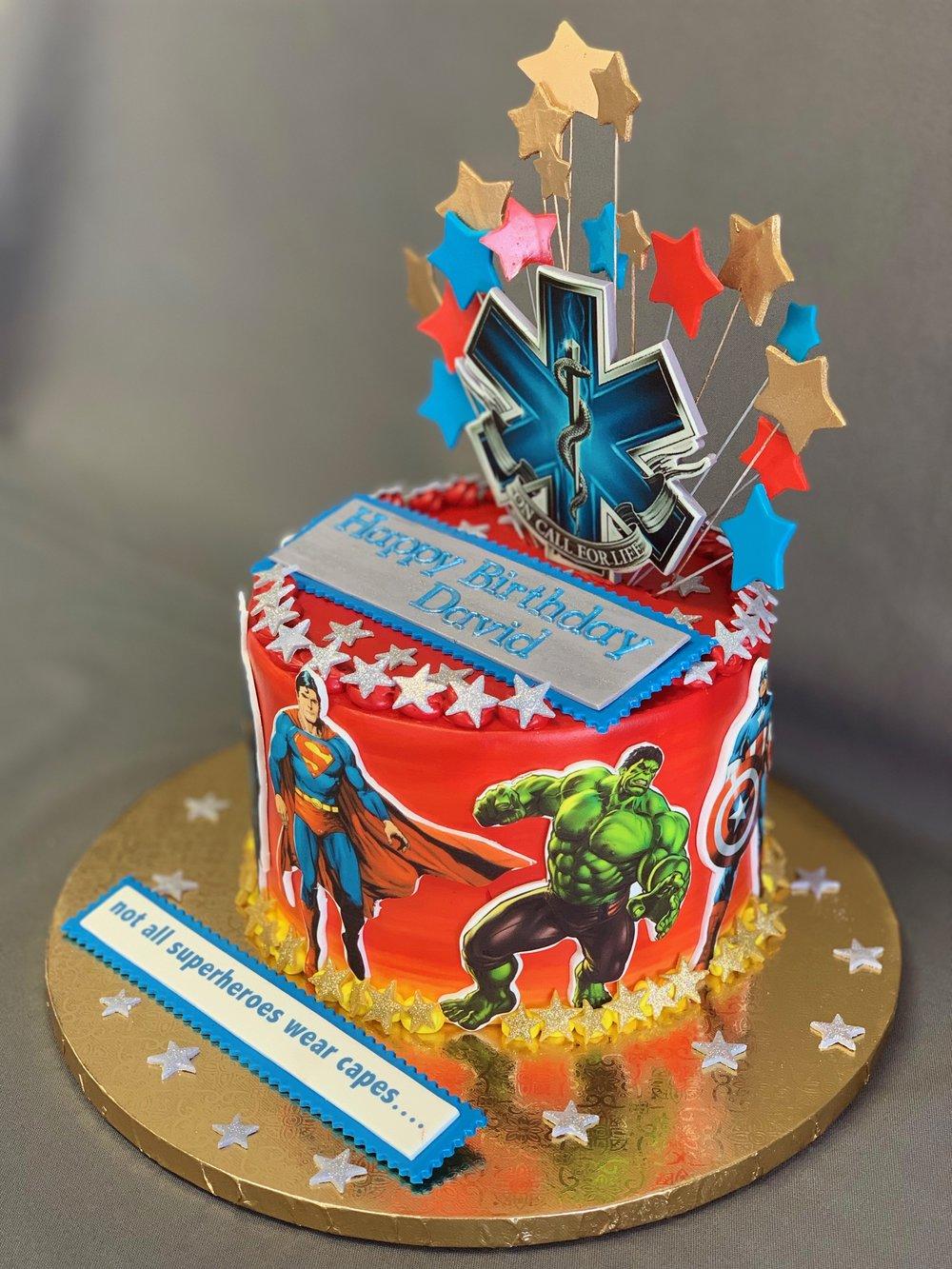 Best super heroes Birthday cake NJ