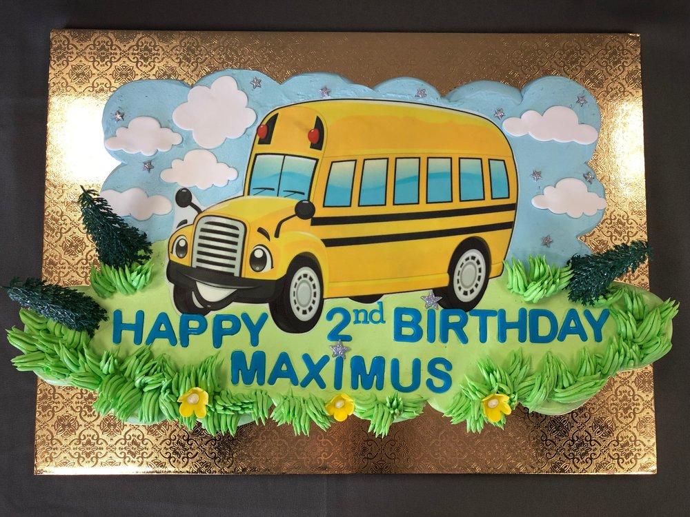 Pull Apart School Bus Cupcake Cake NJ