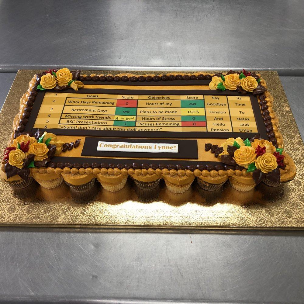 UPS Retirement Pull Apart Cupcake Cake NJ