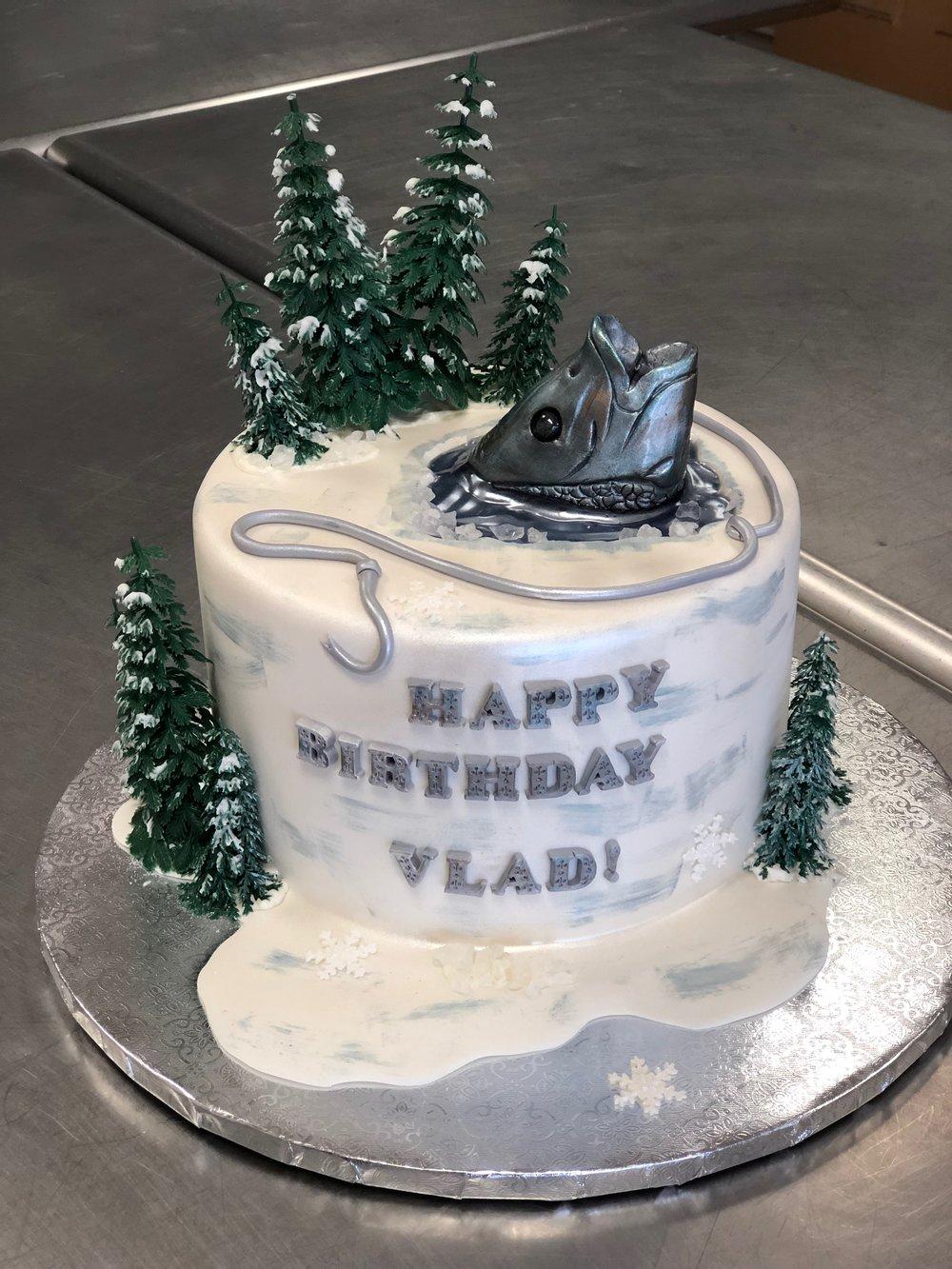 Ice Fishing Birthday Cake New Jersey