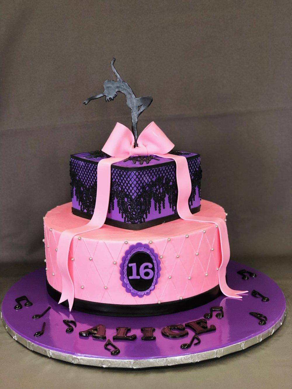 Sweet 16 Cake — Skazka Desserts Bakery NJ – Custom Birthday
