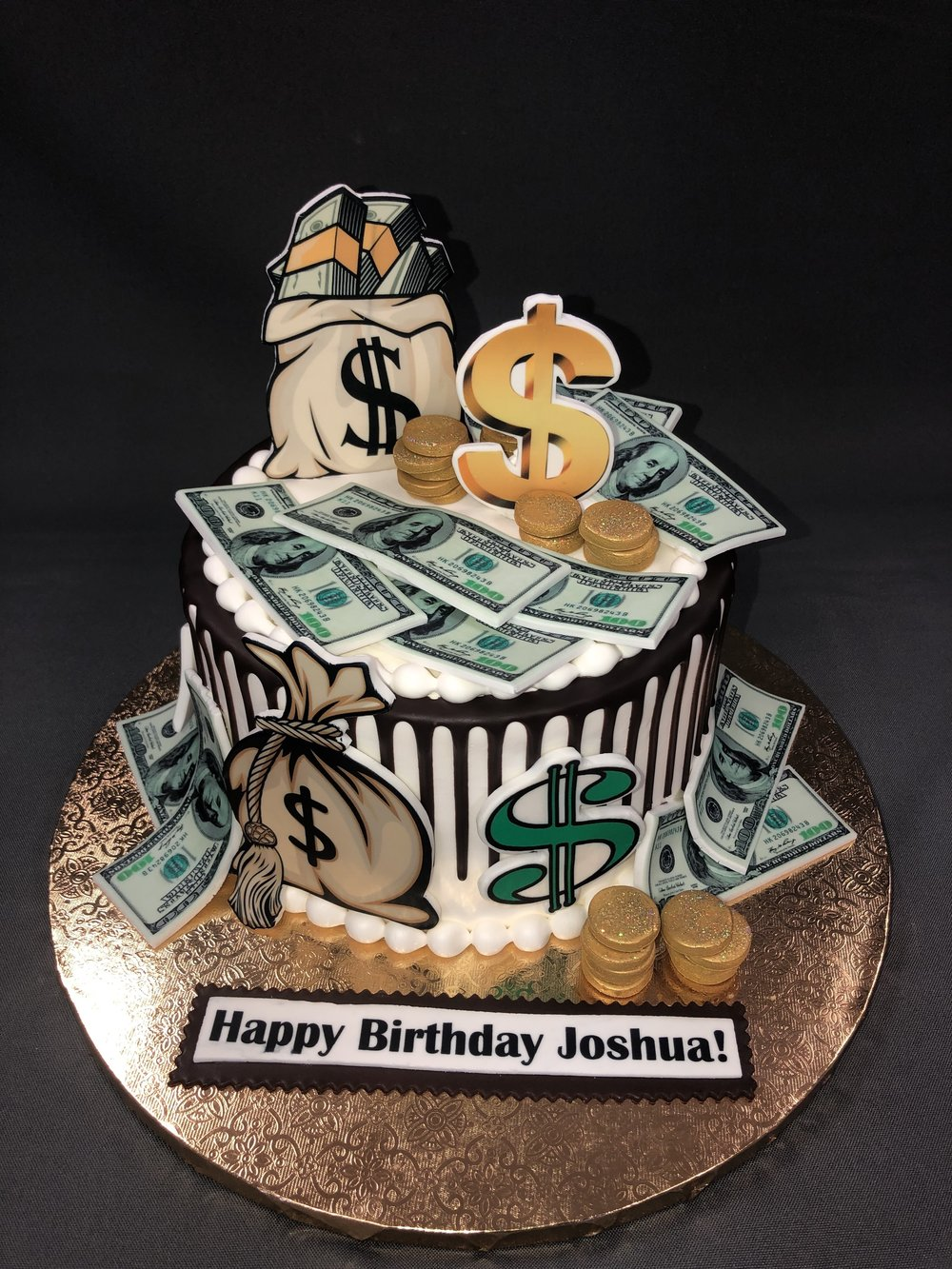 Money Theme Birthday Cake New Jersey