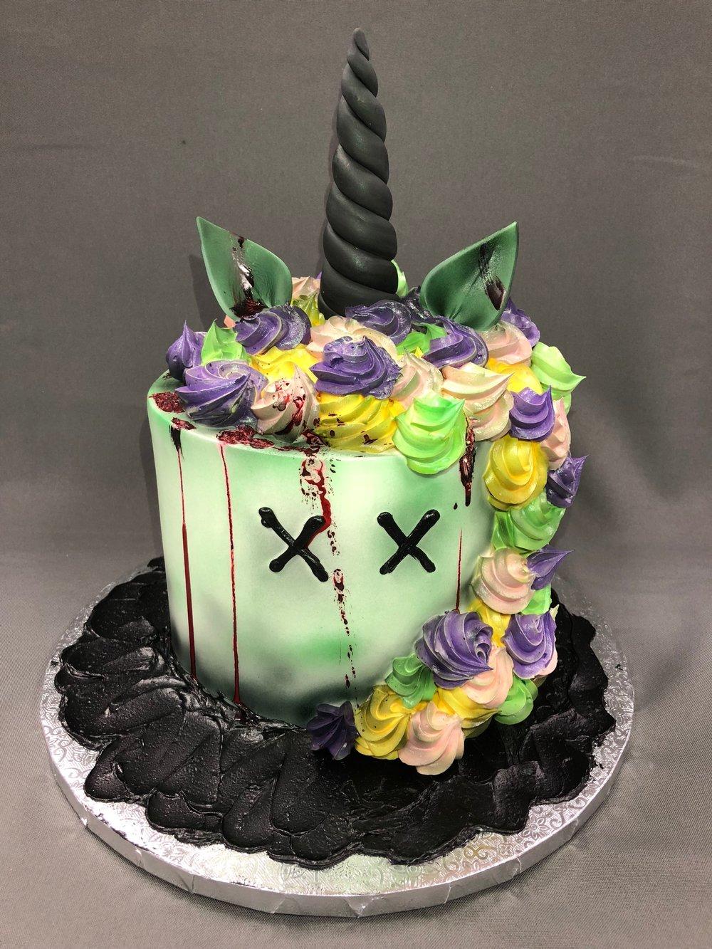 Zombie Unicorn Birthday Cake NJ