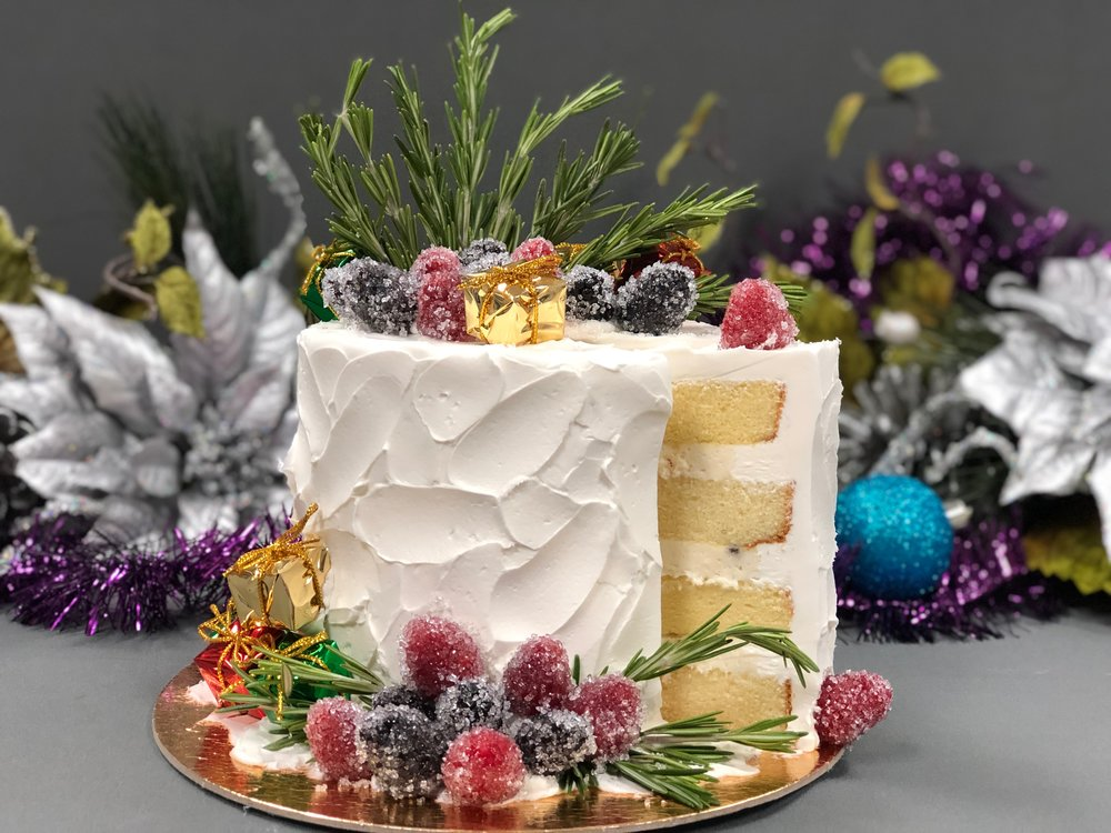 Rustic Christmas Cake New Jersey