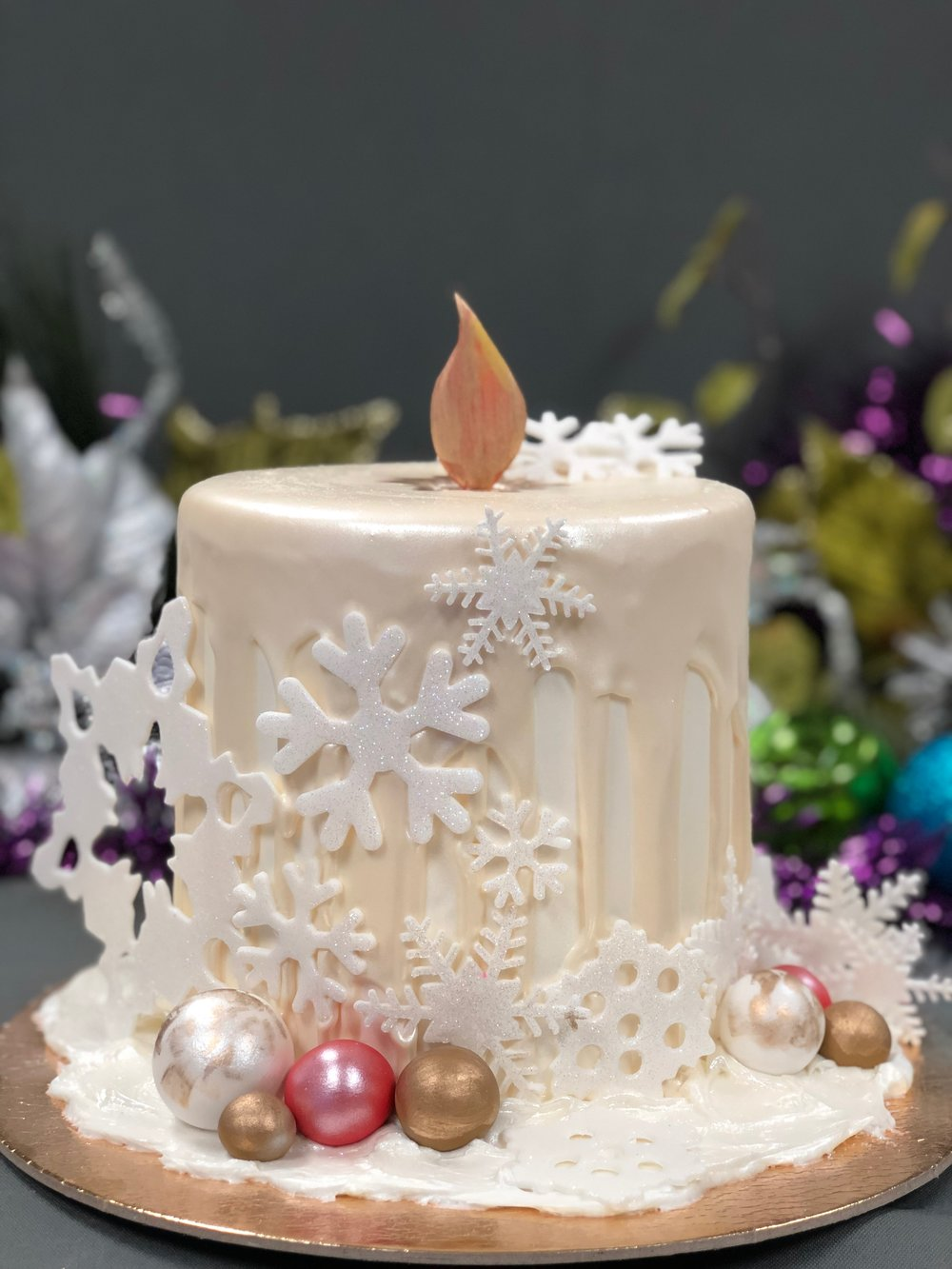 Christmas Candle Cake New Jersey