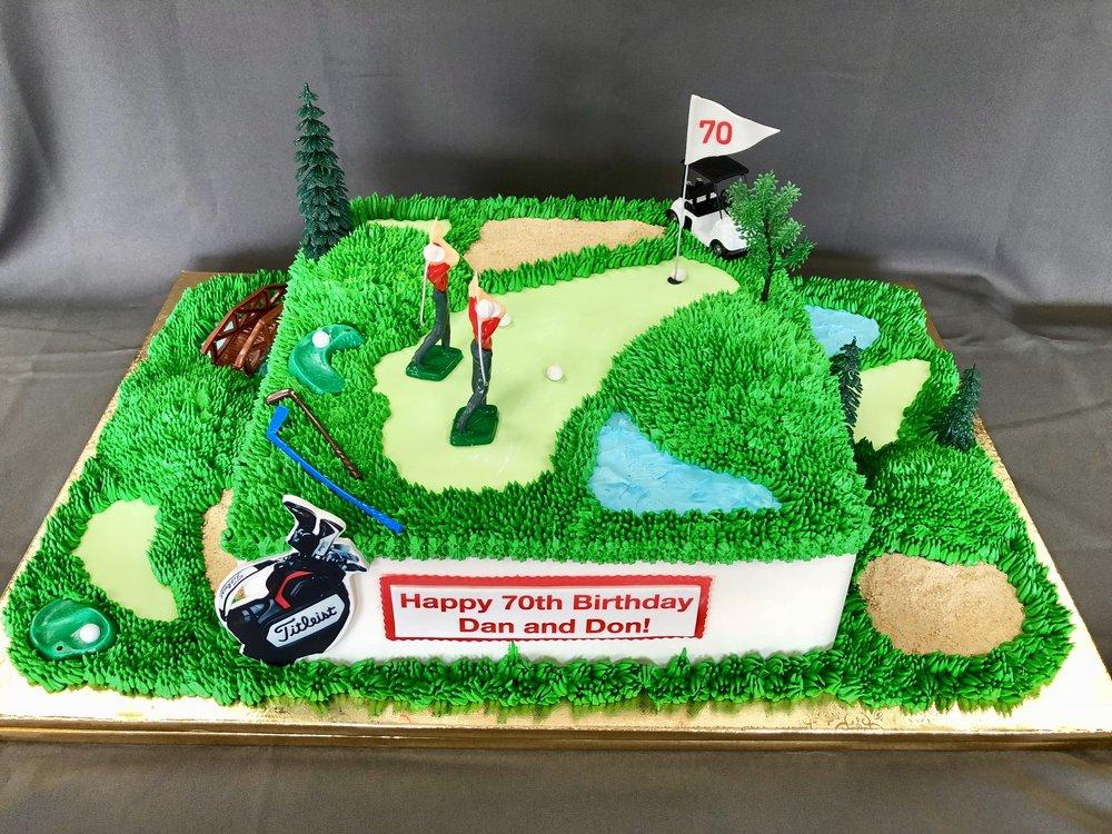 Golf Theme Birthday Cake New Jersey
