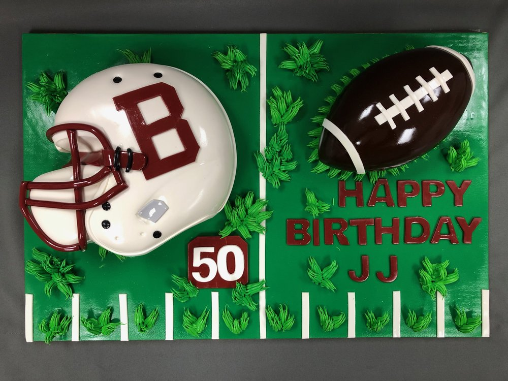 2D Football Birthday Cake NJ