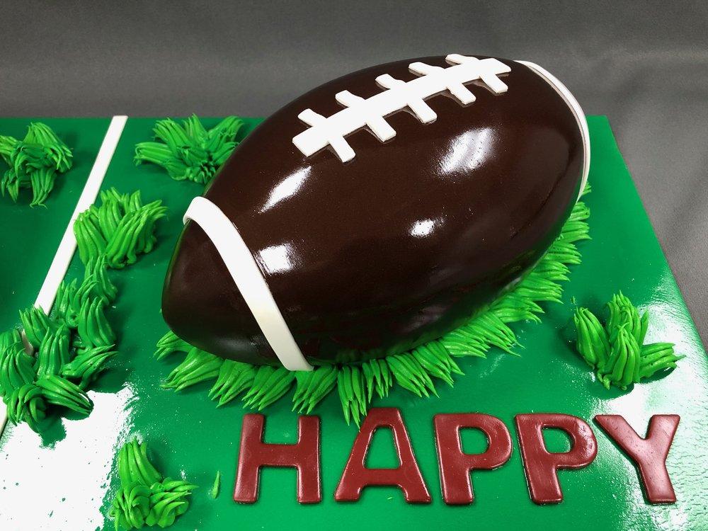 2D Football Birthday Cake NJ