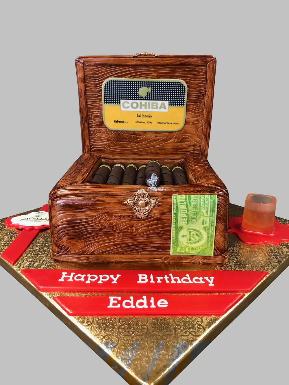 Cigar Box Birthday Cake New Jersey