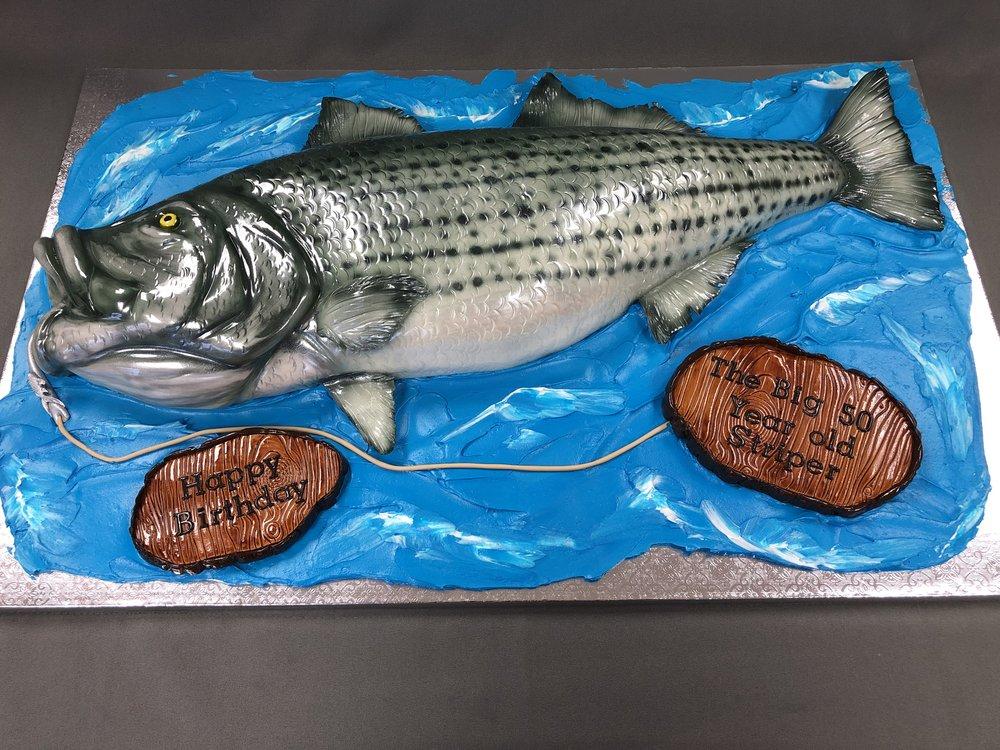 Sea Bass Birthday Cake New Jersey