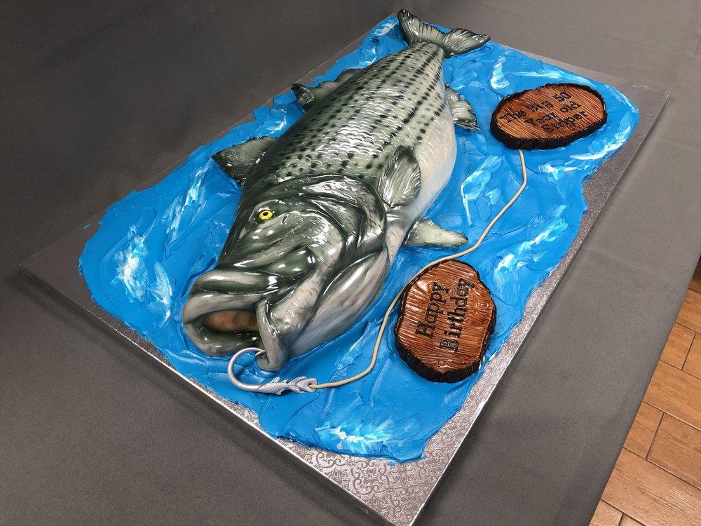 Sea Bass Birthday Cake NJ