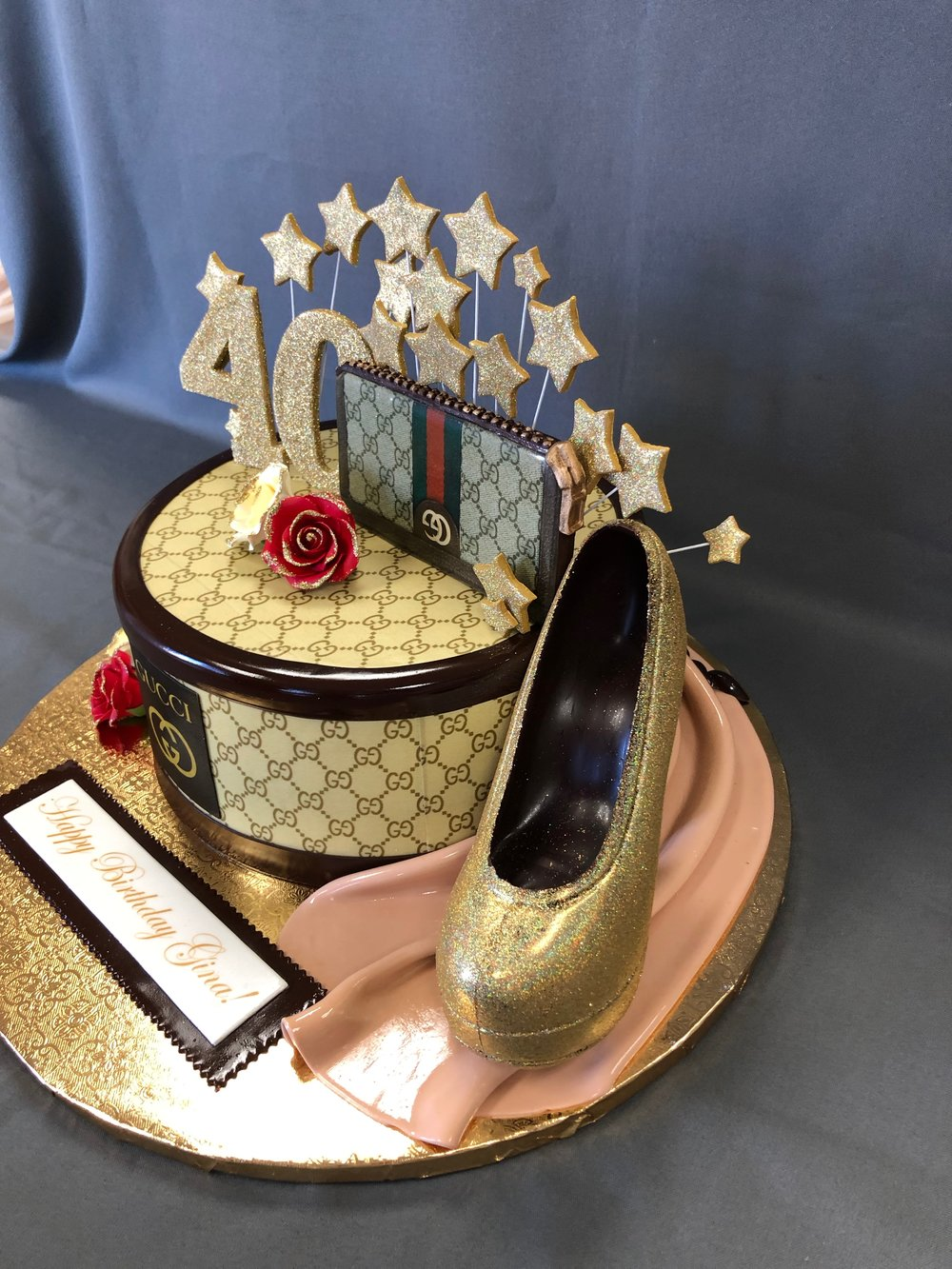 Gucci Themed 40th Birthday Cake NJ