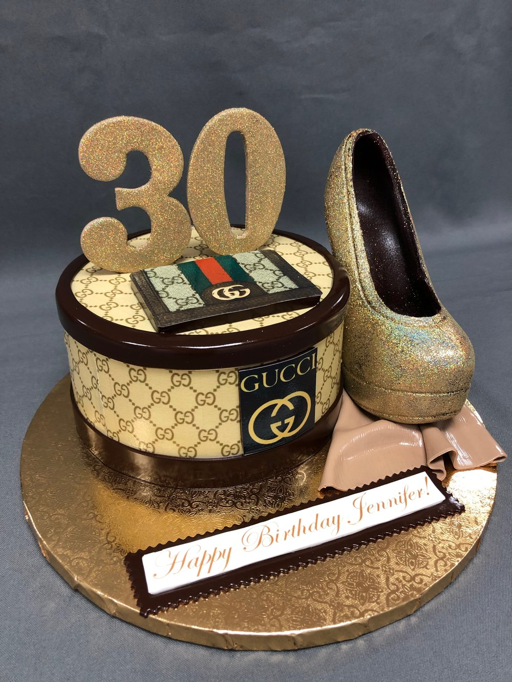 Gucci Themed 30th Birthday Cake New Jersey