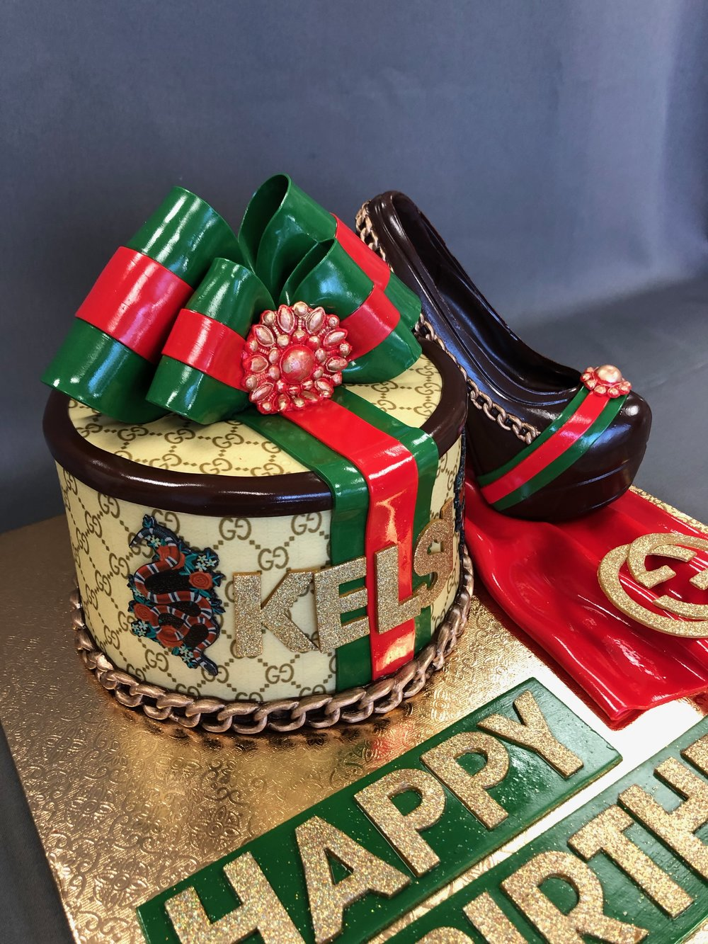 Gucci Themed Birthday Cake New Jersey