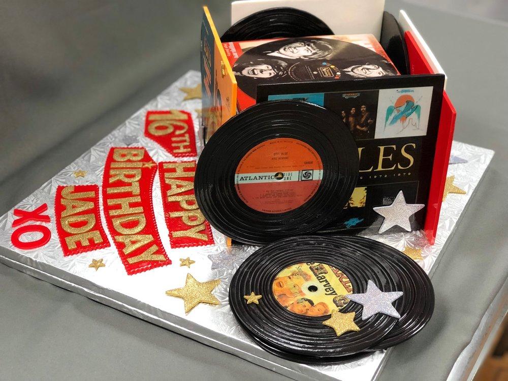 Vinyl Records Sweet 16 Cake New Jersey