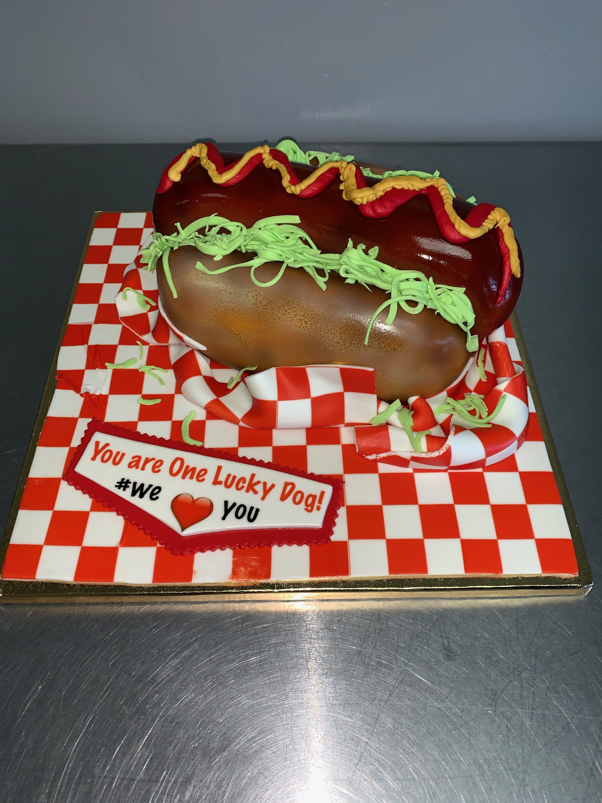 3D Hot Dog Cake