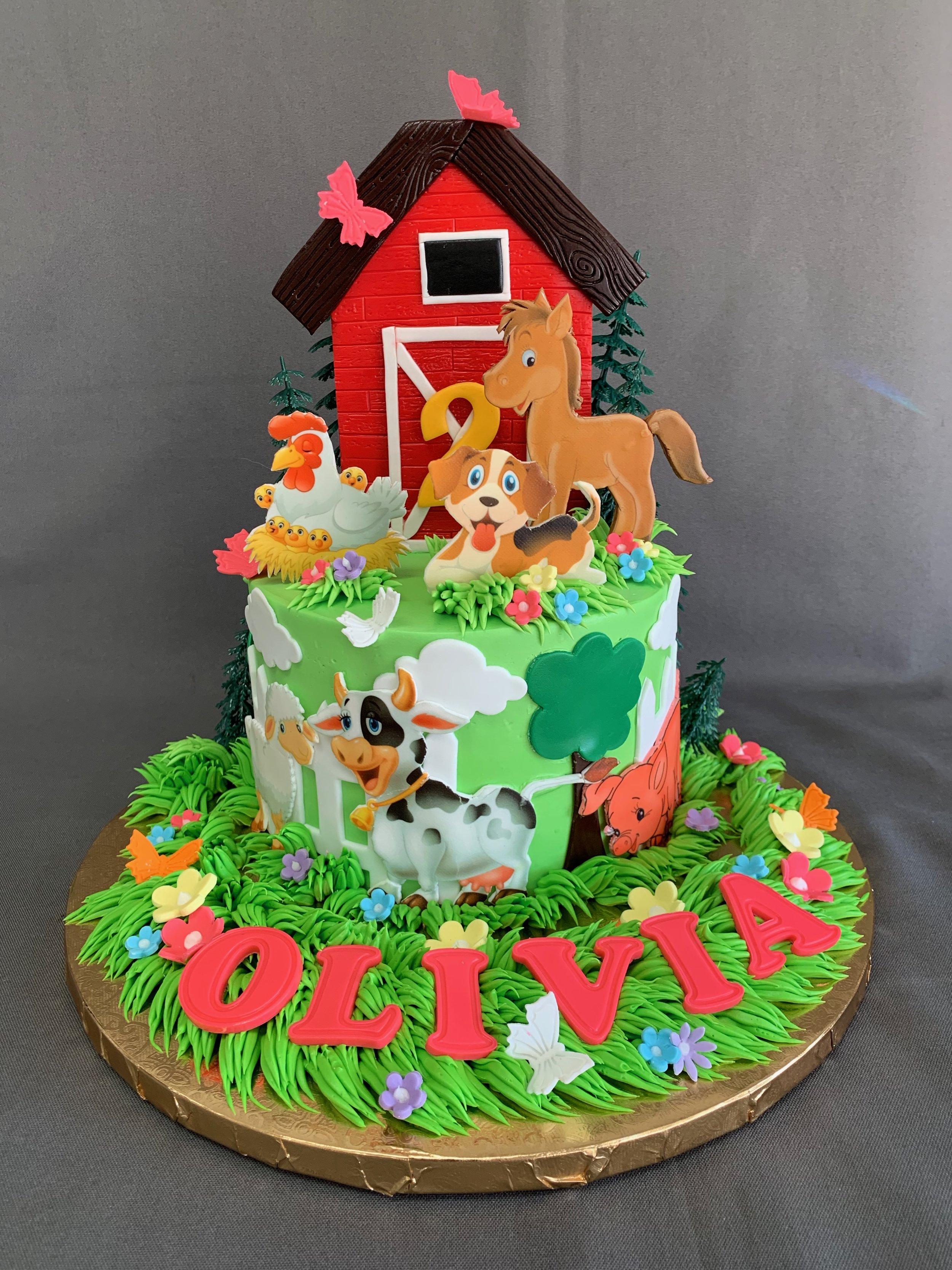 Animal Farm Birthday Cake