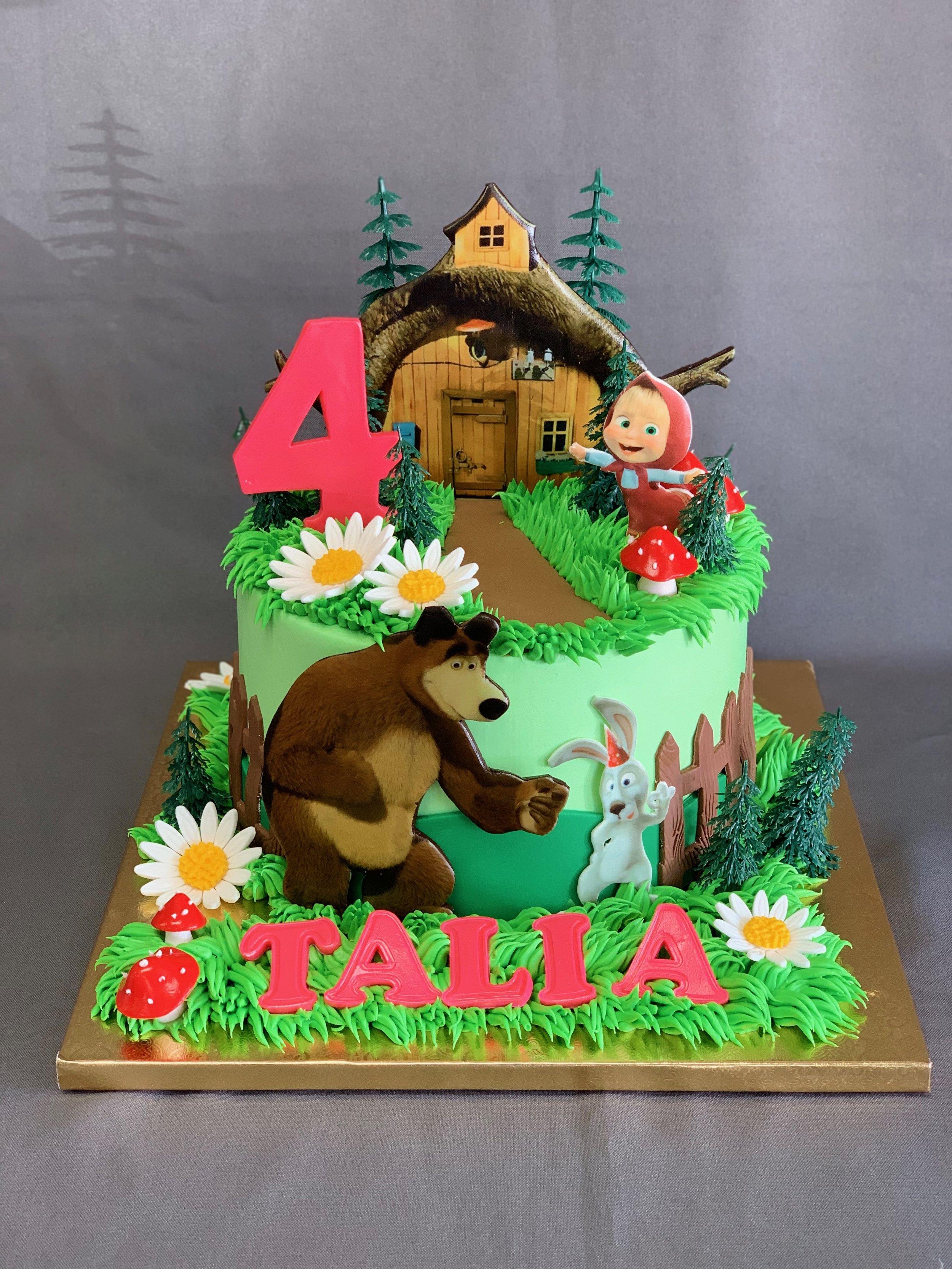 Masha & Bear Birthday Cake