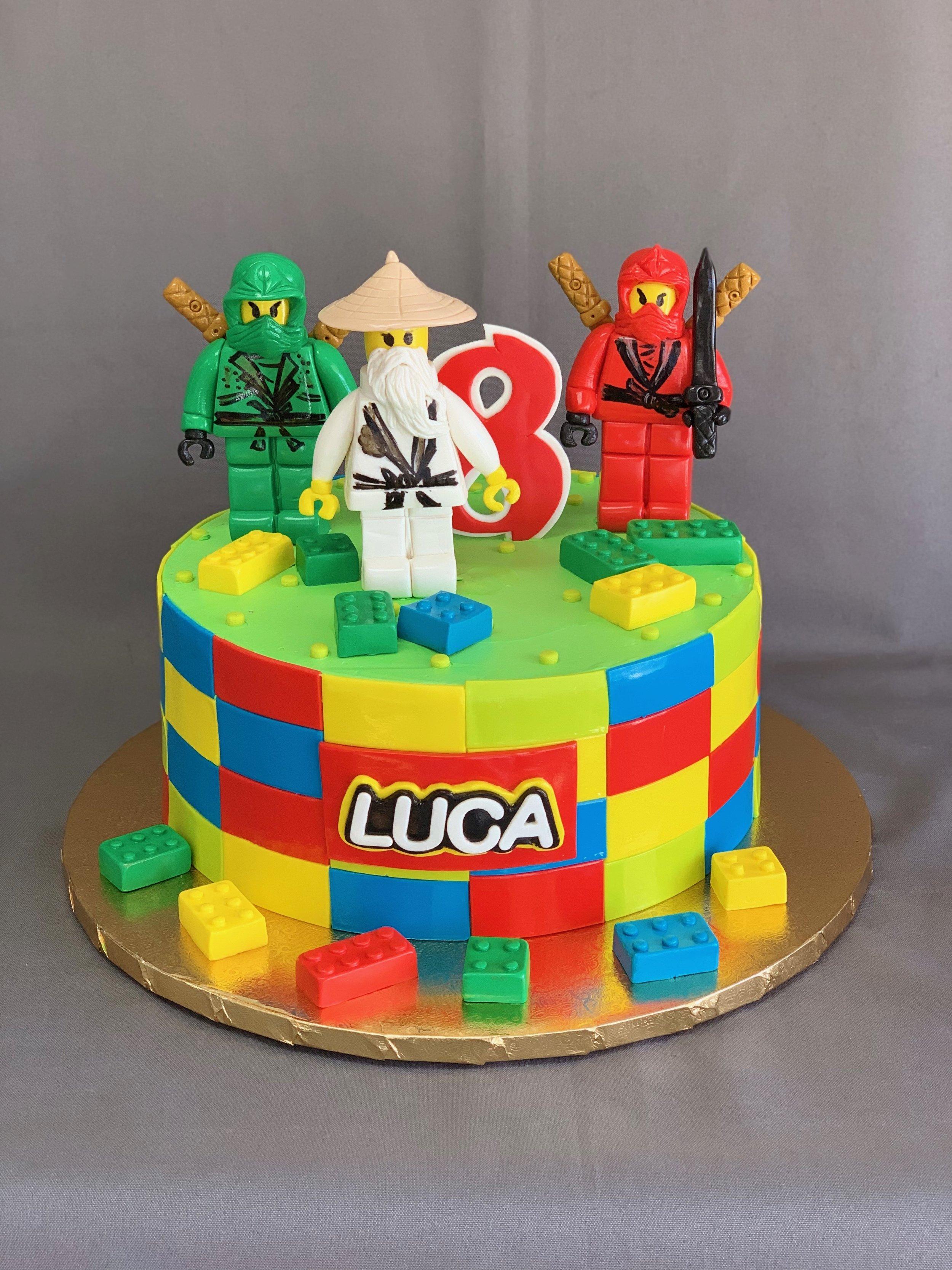 Ninja Lego Birthday Cake