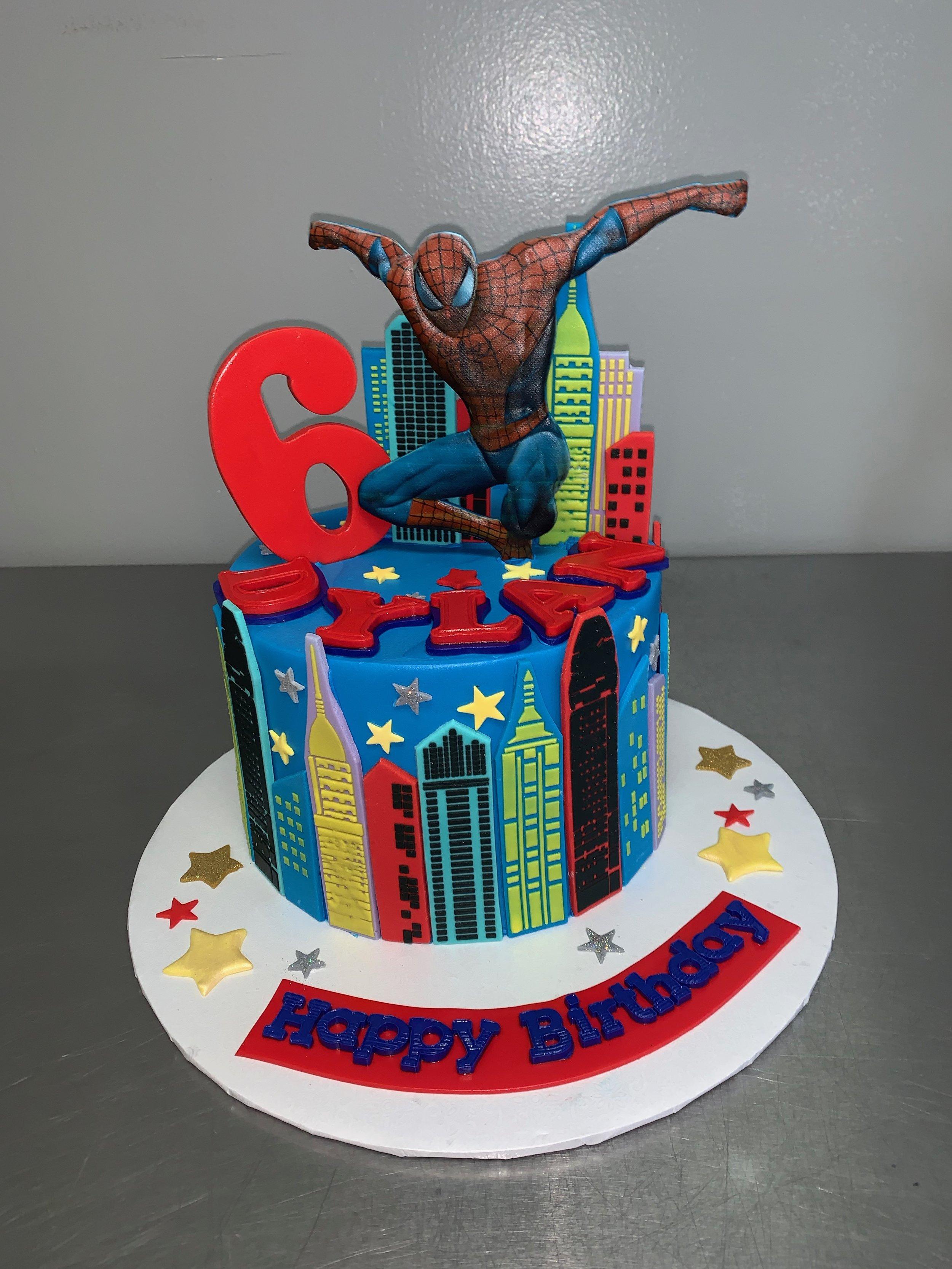 Spider-Man Birthday Cake