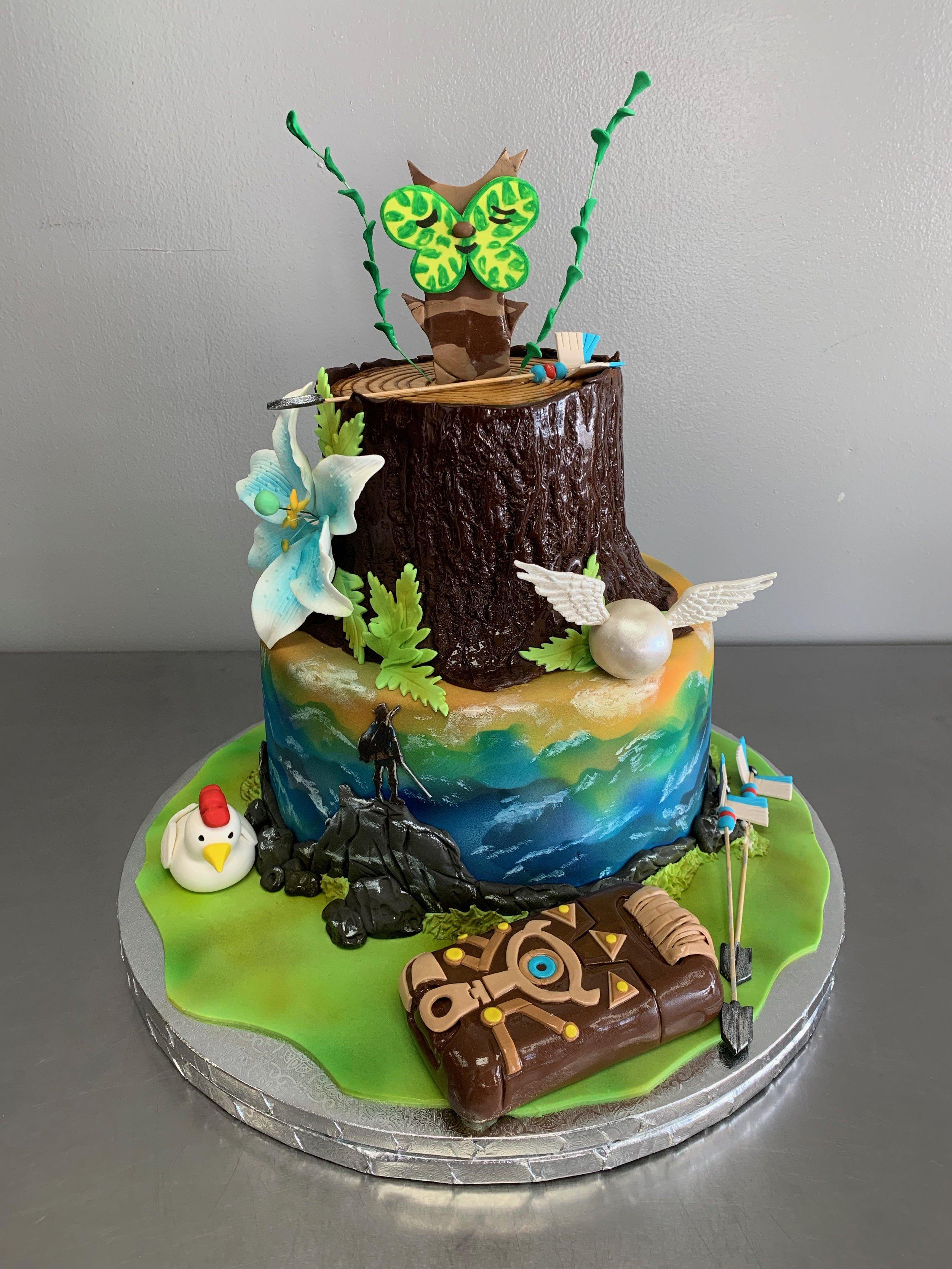 The Legend Of Zelda Groom S Cake Skazka Desserts Bakery Nj Custom Birthday Cakes Cupcakes Shop