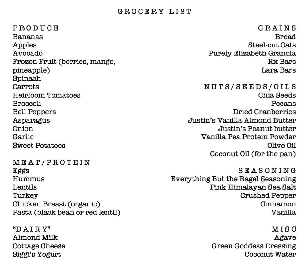 My-Grocery-List