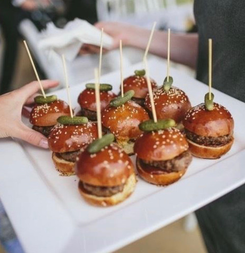 Sundays on the job - serving the most delicious canapés! Our Boys & Girls 24/7!