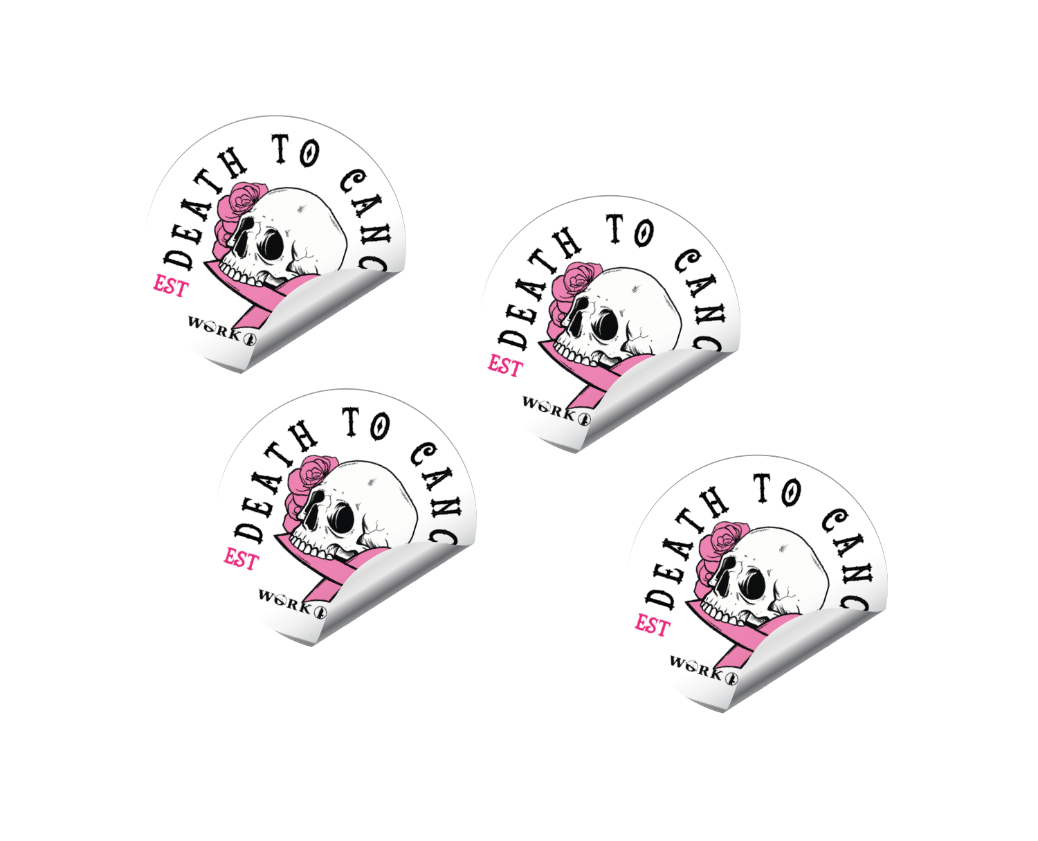 Death to Cancer Stickers - $4.99