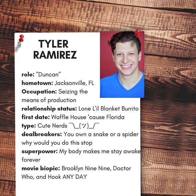 Meet the team! Get to know @tyram1994!  Tyler Ramirez (Duncan) was born and raised in Jacksonville, FL and received his BA in Acting/Directing from Emerson College in Boston, MA. While at Emerson, Tyler was lucky enough to be involved with many projects both on and off the stage. His favorites include Mrs. Warrens's Profession, where he played Sir George Crofts, and The Dressmaker, which he was directed. Tyler relocated to Los Angeles in the Fall of 2017, and was most recently featured in the music video for Michael Blume's Blunder.  #loveisascam #actor #webseries #comedy #romcom #dating #profile #swiperight #crowdfunding