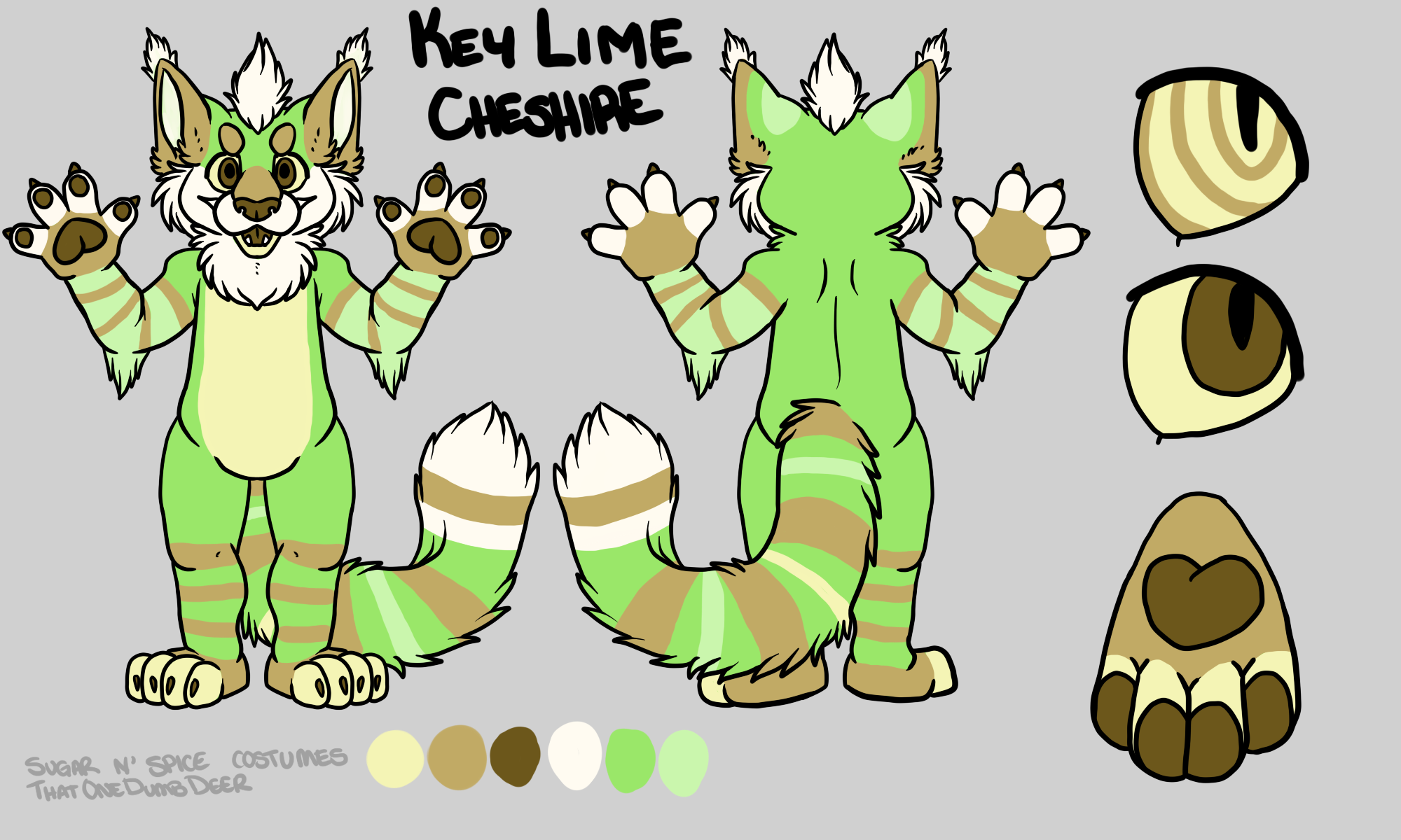 Key lime Cheshire Linx - $1950 Plantigrade Full suit$2100 Didgigrade Full suit. This suit will include a badge from Lilbobleat
