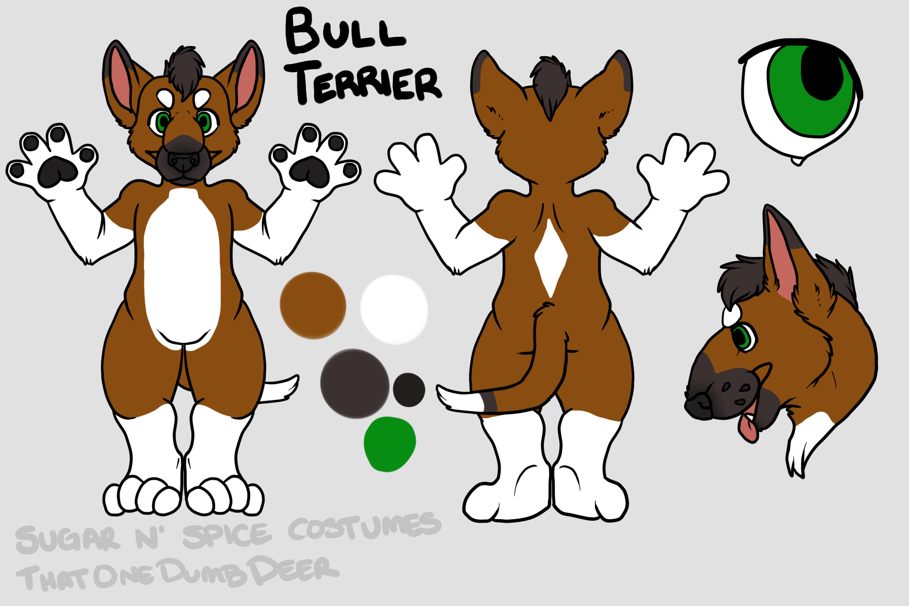 Tri Color Diamond bullie - $1800 Plantigrade Full suit$2100 Didgigrade Full suit. This suit will include a badge from Lilbobleat