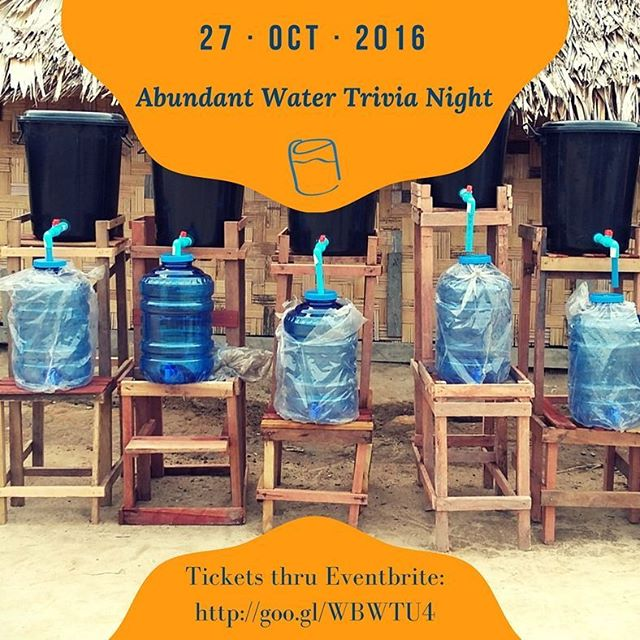 Come celebrate our important work with the entire team at our annual Abundant Water #Trivia Night!  Purchase your ticket for a table of 8 thru the link below. If you're after a smaller table, keep an eye out for our second ticket release.  http://goo.gl/WBWTU4  #fundraising #water #WASH