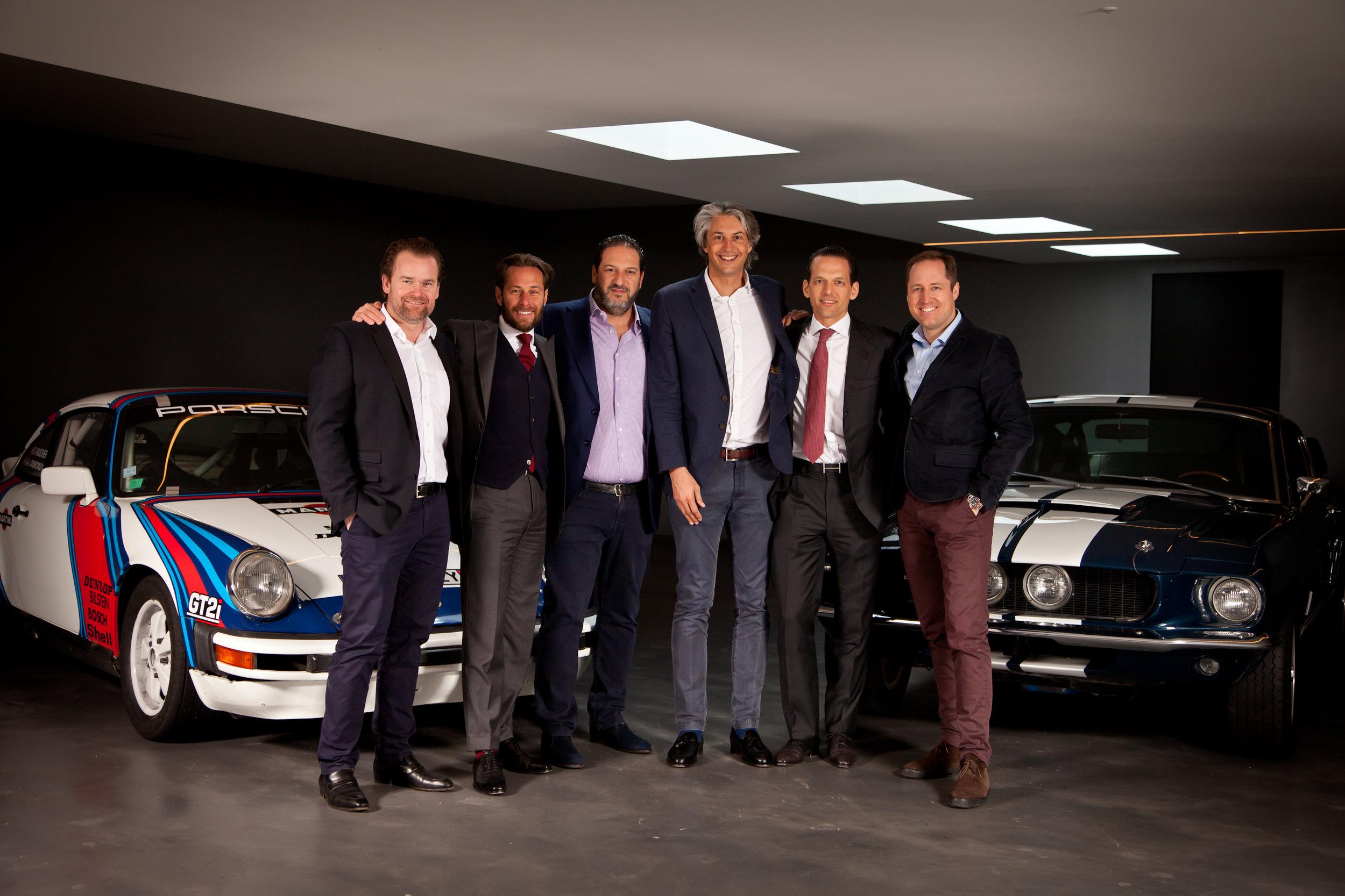 Le comité de gauche à droite: Luc Schulthess, Grégoire Vaucher, Alexandre Axarlis, Grégory Driot, Luca Bozzo, Florian Gautier
