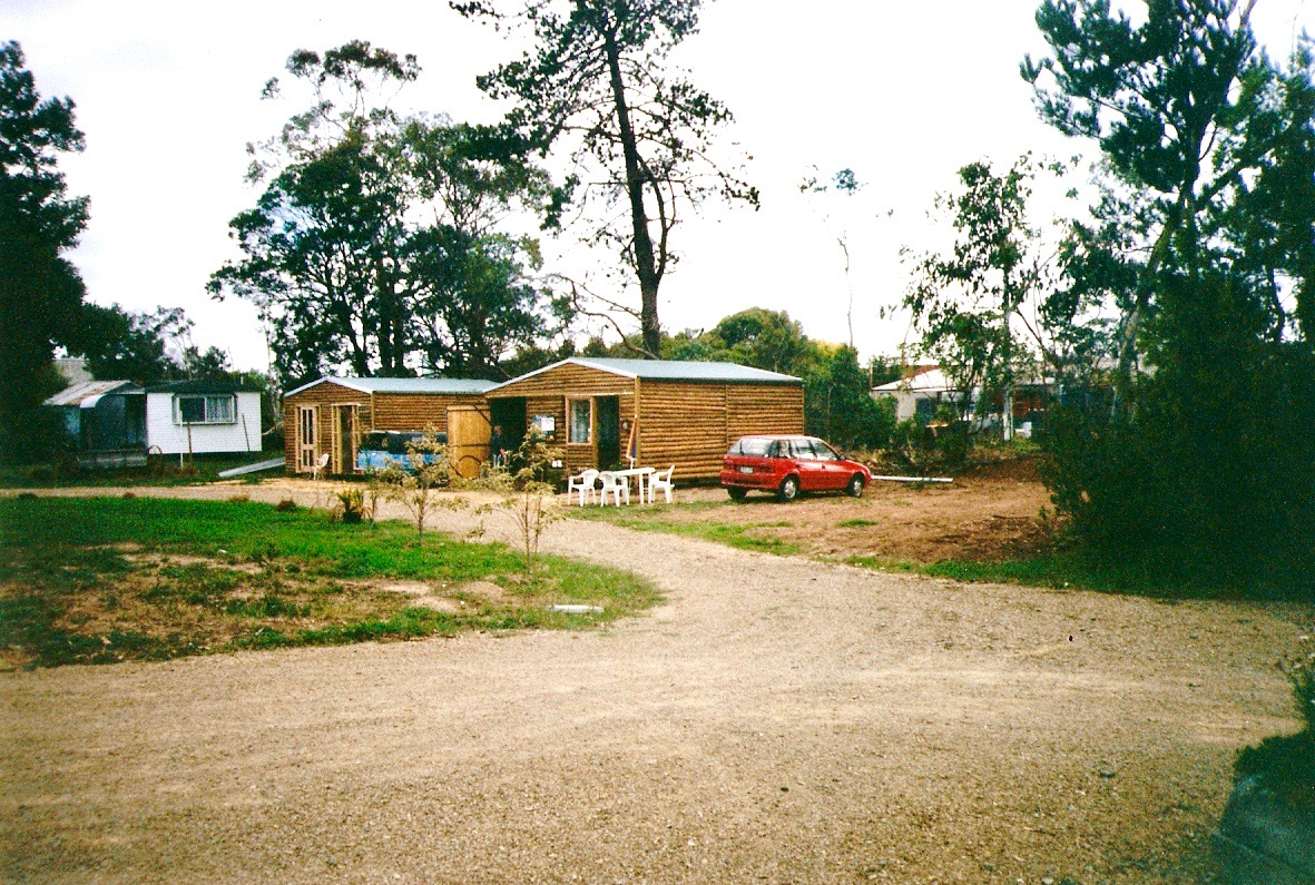 The first buildings of the Village mid-1990s.