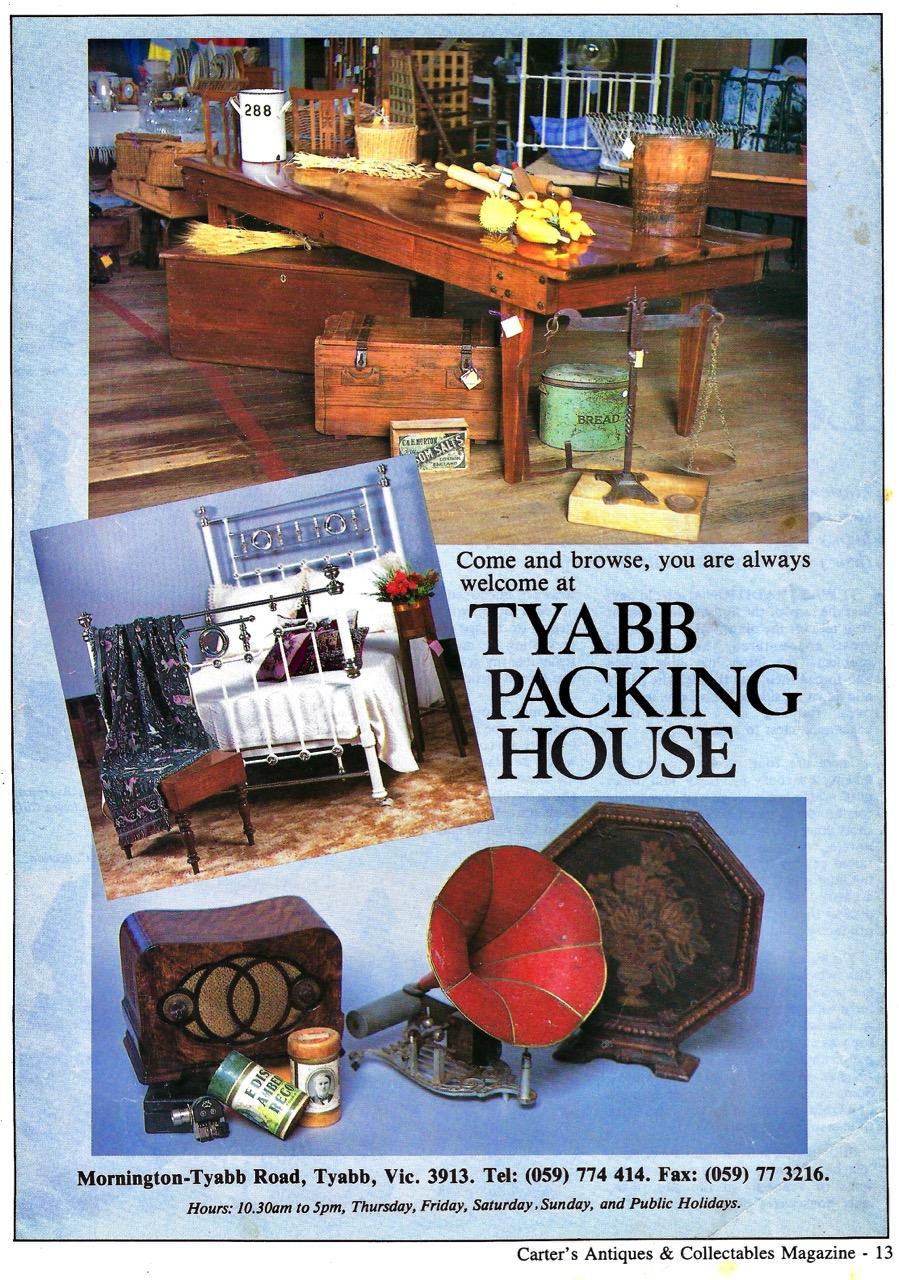 Carter's Antiques advert 1994