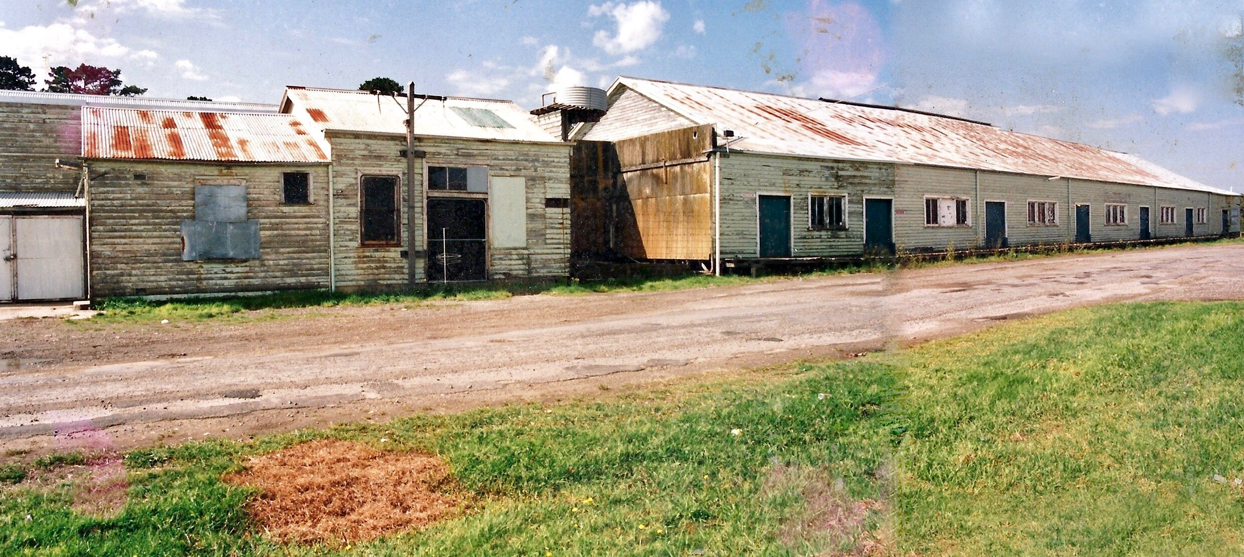 Peacock Road side of the building. 1993 before renovations.