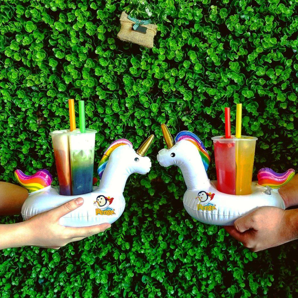 Unicorn floaty drinks by Pengo