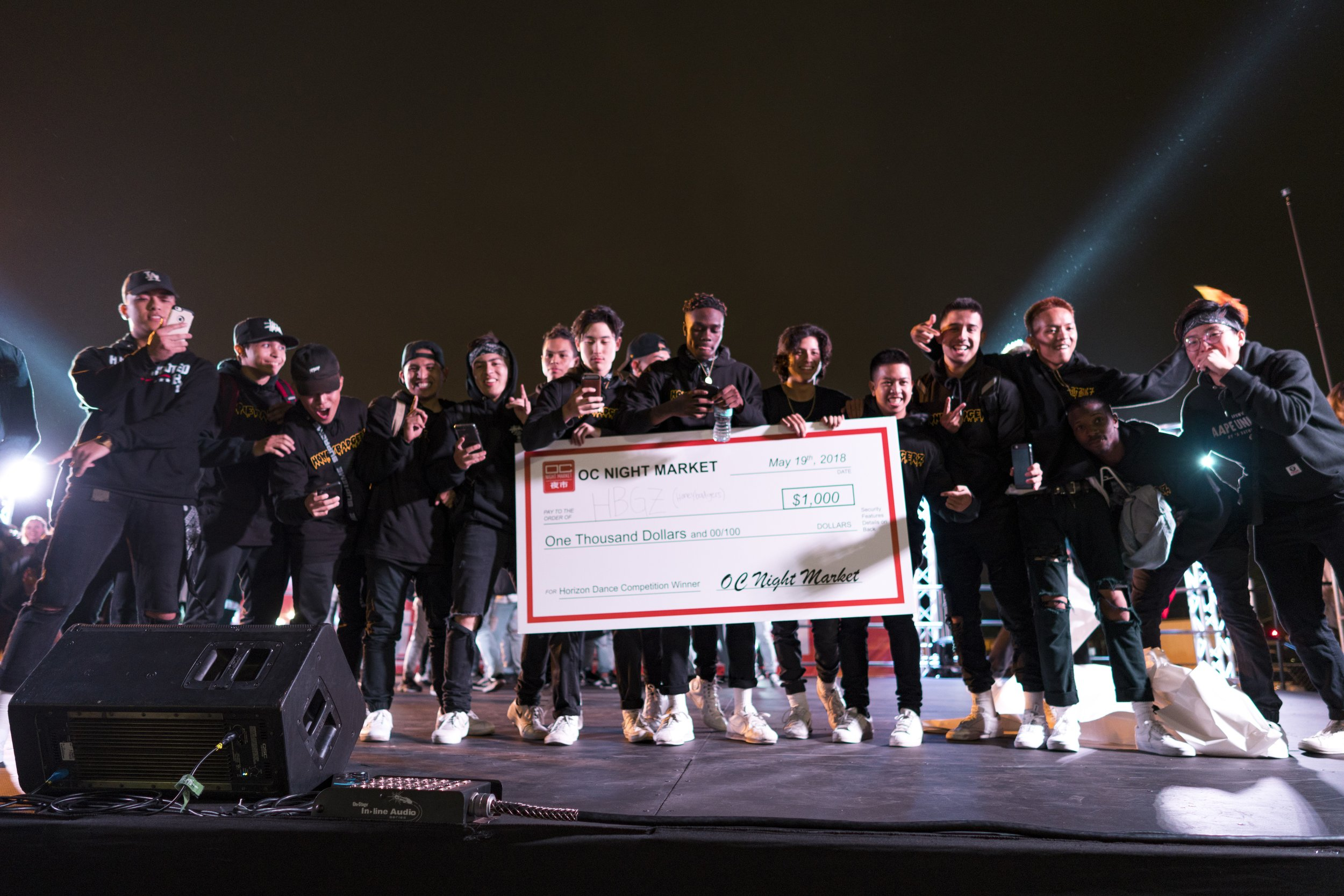 Winners of the 2018 HORIZON dance competition, HBGZ. Photo by Andrew Ge.