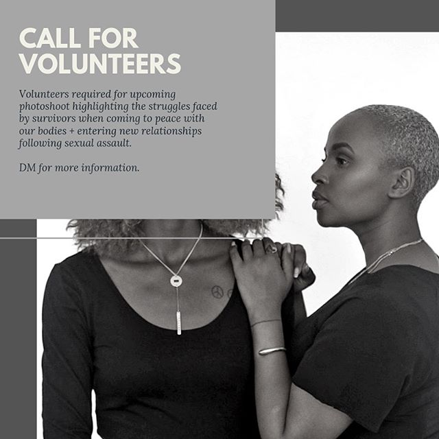 Have you been loving our photo and video campaigns from afar? Ready to join us in reclaiming your power?  ___ We're looking for volunteers for an upcoming shoot featuring survivors in Nairobi, Kenya! DM for more information ✨🙏🏾 #strongertogether