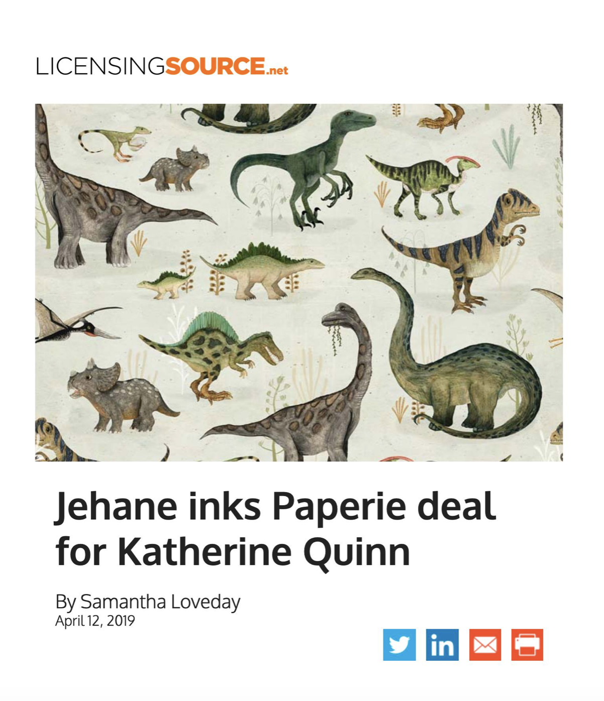 Jehane Ltd in Licensing News - Artist's natural history subjects are now available on a range of wrapping paper.