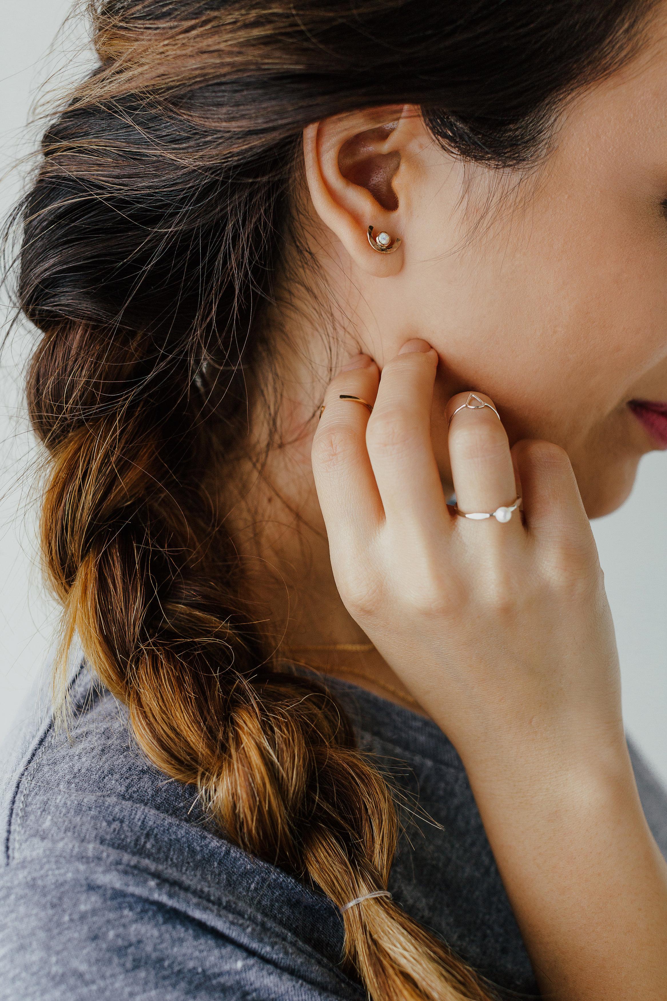 Delicate rings and earrings